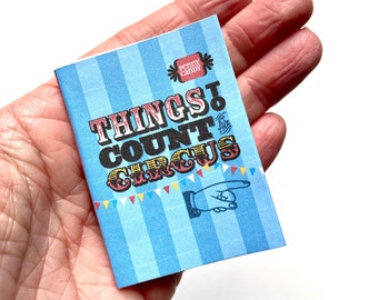 PRINTABLE Mini ZINE ~ Things to Count at the Circus (Digital PDF Download) ~ Childrens Book ~ Baby ~ Toddler
