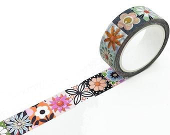 WASHI TAPE Les Fleurs ~ Floral ~ 15mm x 10m ~ EXCLUSIVE Design ~ Flowers ~ Limited Edition