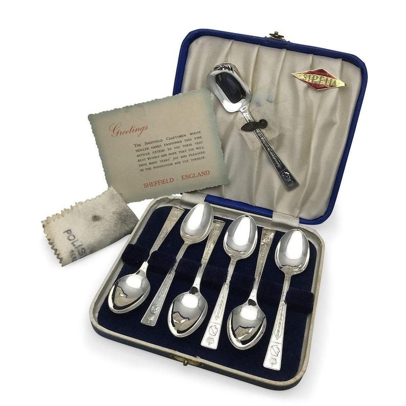 1953 Queen Elizabeth Coronation Spoon Set by Sipelia