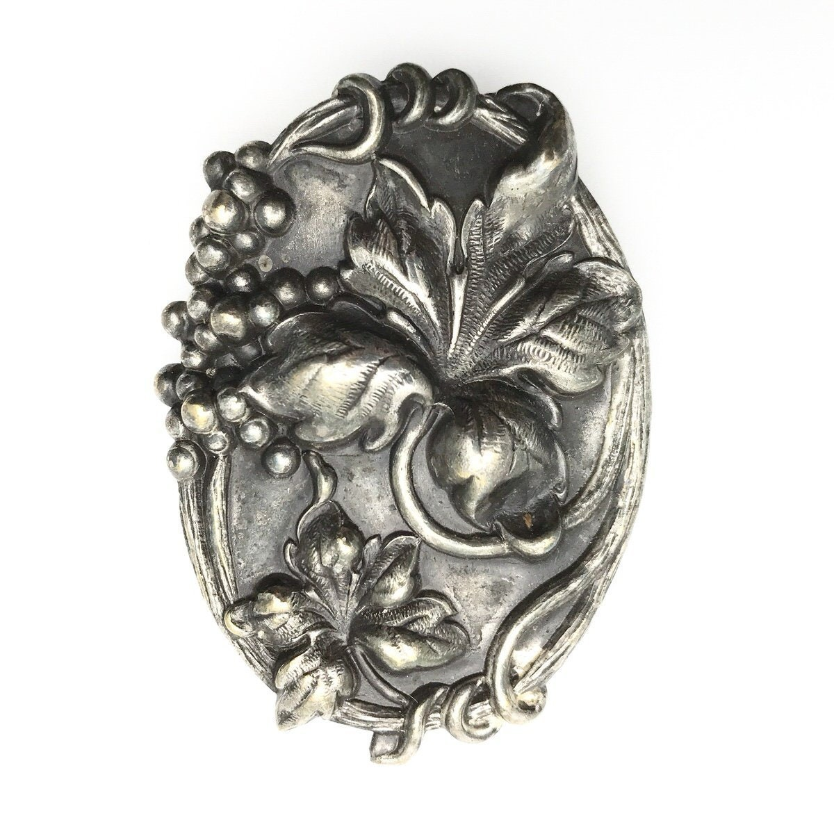 Other Fine Jewelry 1895-1935 Antique English Art Nouveau 1907 Sterling Silver Enamel Sash Buckle Periods & Styles