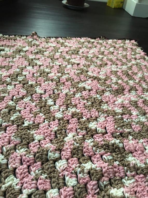 Neopalitian Crochet Baby Blanket Multicolor Pink Brown Etsy