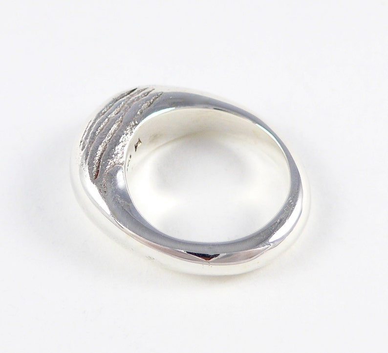 Dune series sterling silver ring image 0