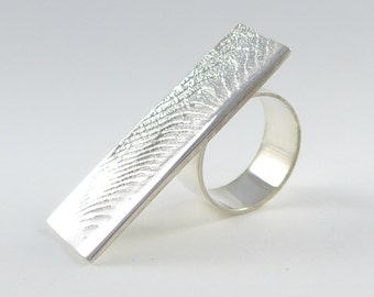 Rock pool ring in sterling silver