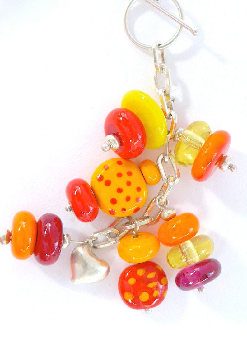 A glorious sunset necklace on sterling silver chain image 0