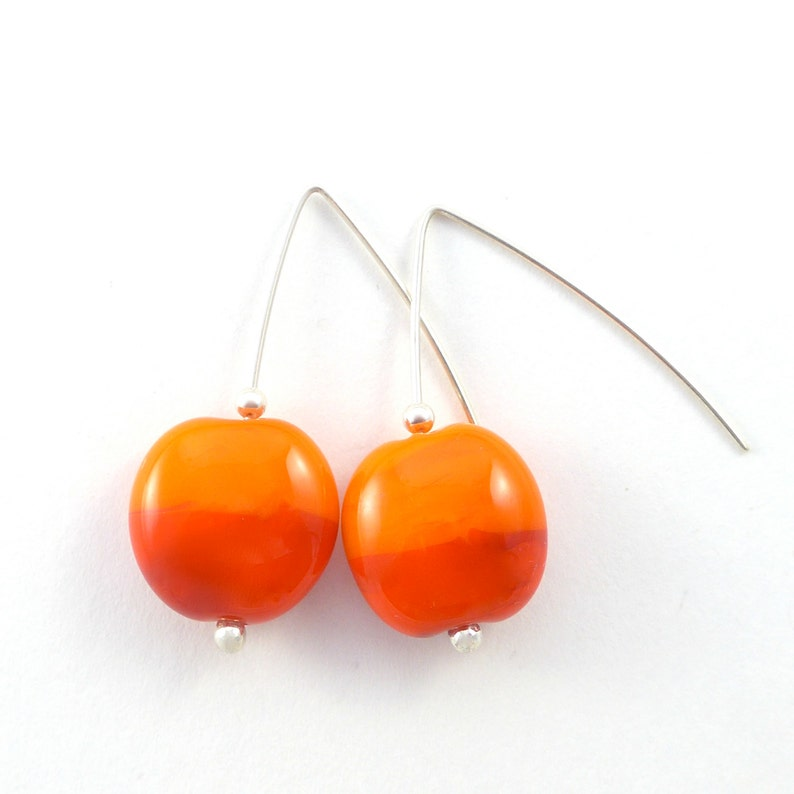 Hot summer afternoon glass bead earrings image 0