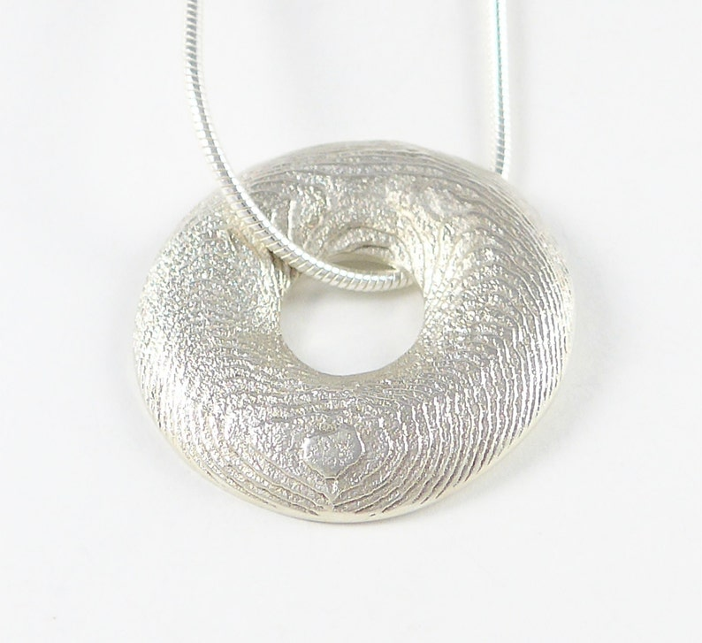 Circles of the sea sterling silver pendant large image 0