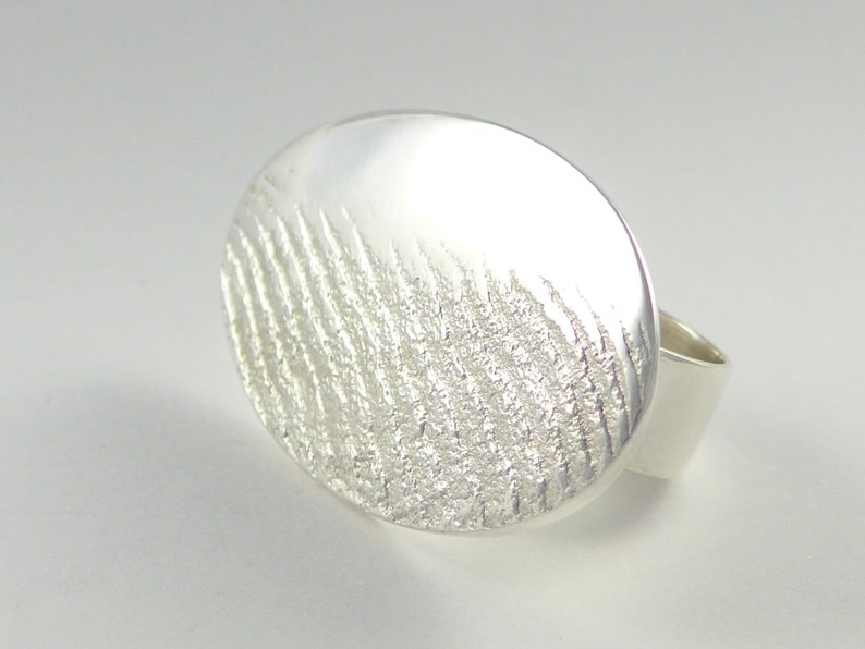 Sea foam on the sea shore sterling silver ring image 0