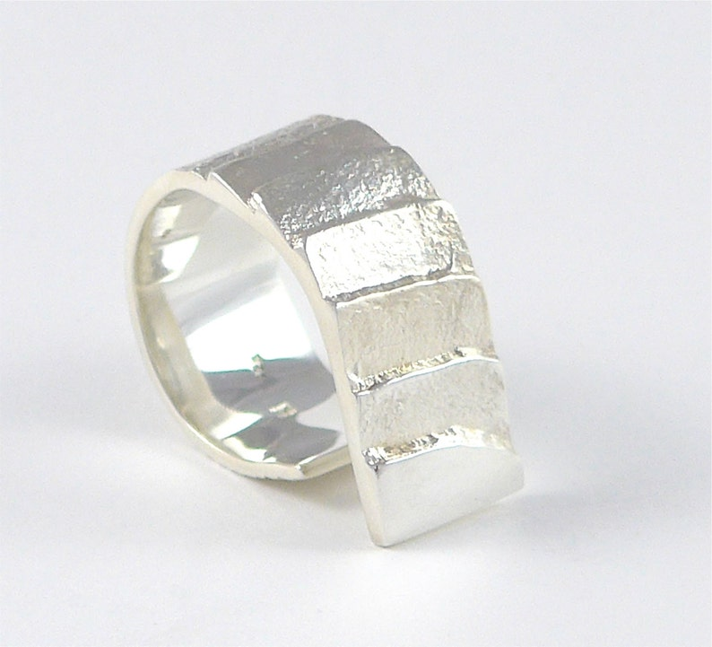 Stairway to the moon ring in sterling silver image 1