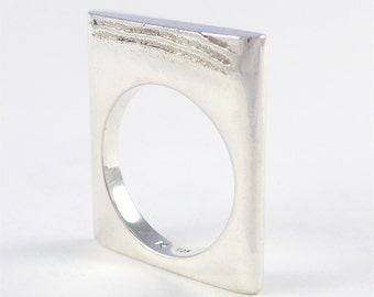 Plateau 2 sterling silver ring