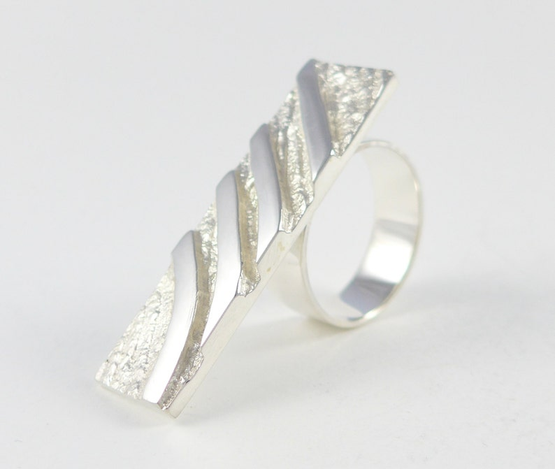 Desert Tracks sterling silver ring image 0