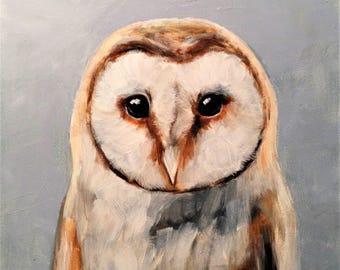 OWL Fine Art Print Oil Painting by Elizabeth Barrett