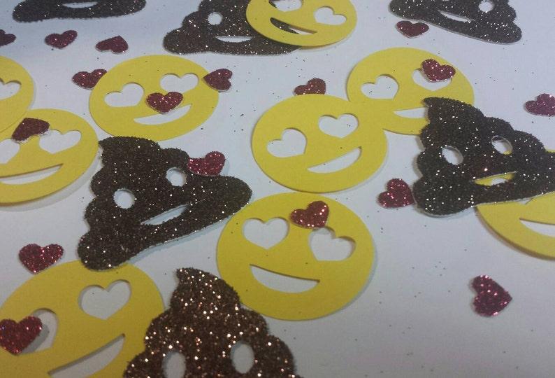 Glitter Poop Hearts Emoji Confetti Social Media
