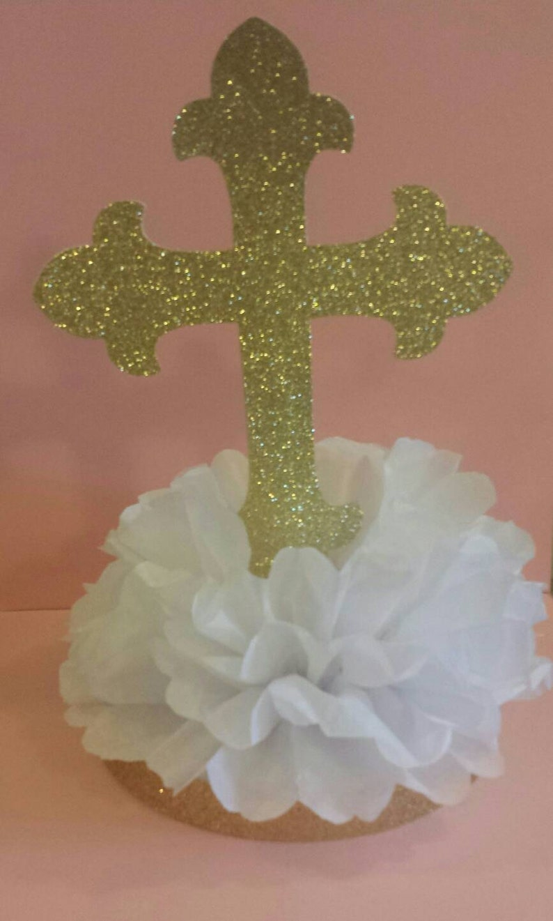 Cross Baptism First Communion Table Centerpiece You Pick Etsy