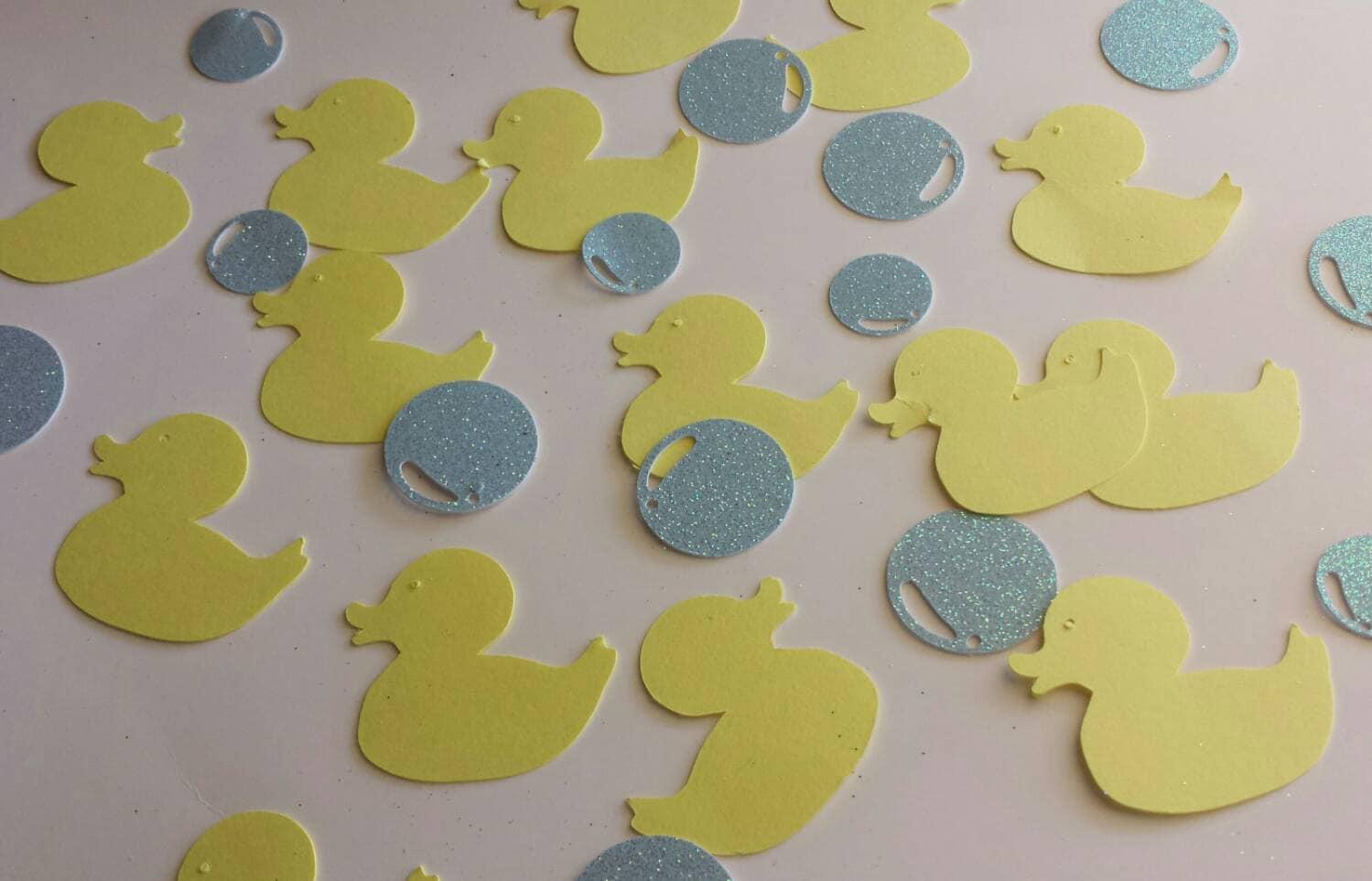 Rub a dub Duck and glitter bubbles baby shower confetti rubber | Etsy