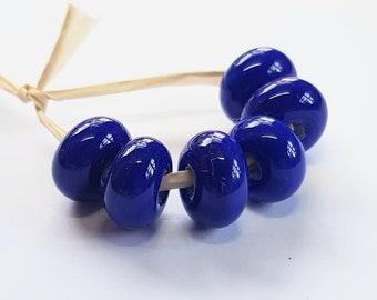 Navy, Artisan Lampwork Glass Beads, SRA, UK
