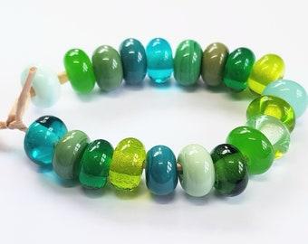 Forest Mix, Artisan Lampwork Glass Beads, SRA, UK