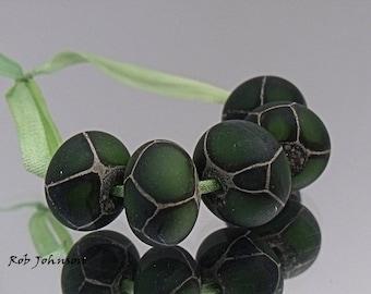 Dragon Scales, Artisan Lampwork Glass Beads, SRA, UK