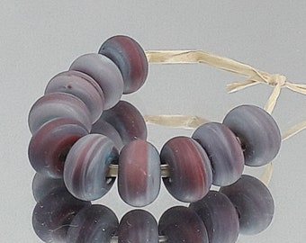 Red Copper, Artisan Lampwork Glass Beads, SRA, UK
