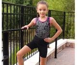 High Waisted Dance Shorts Pattern Chloe Compression Shorts Pattern Girls Athletic Runner Shorts Pattern Girls Sizes 2-14