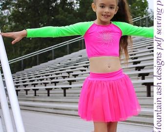 Isadora Tutu Skirt and Shorts Sewing Pattern Ballet Skirt Tutu Shorts Dance Costume pdf Sewing Pattern Girls Sizes 2-14