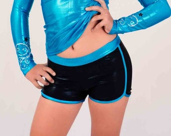 Womens Retro Running Shorts Pattern Gymnastics Dance Shorts 6 pdf Sewing Pattern Booty Shorts Yoga Gym Workout Running Shorts