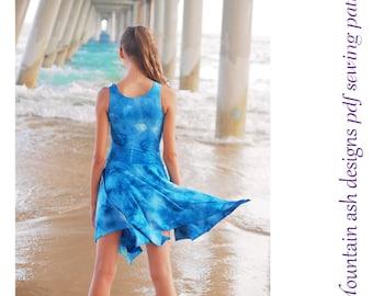 Elizabeth pdf sewing pattern gymnastics ballet dance leotard dress costume girls sizes 2-14