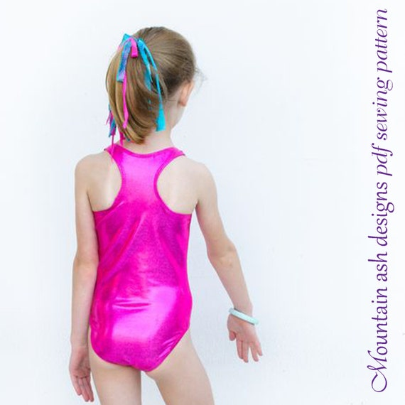 Laura leotard pattern pdf sewing pattern racerback swimsuit | Etsy