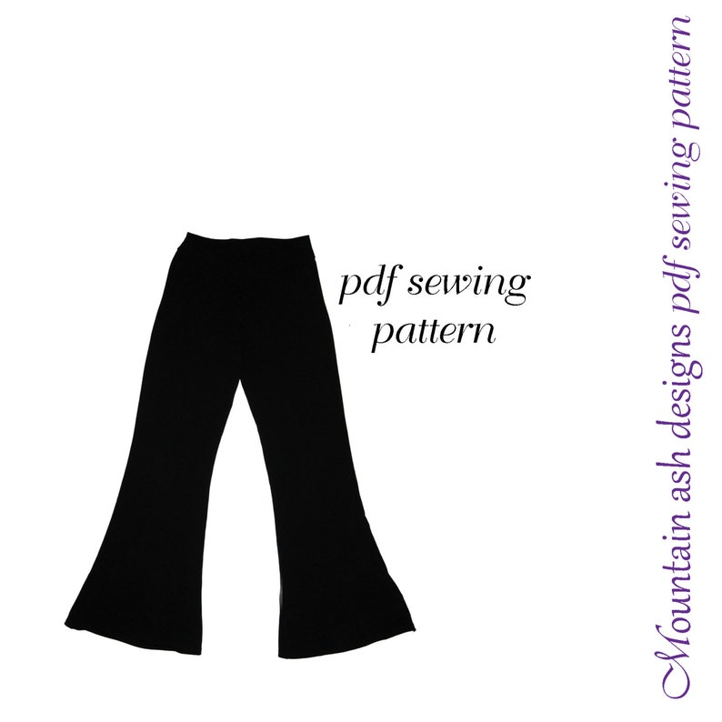 Flared Leggings and Jazz Pants pdf sewing pattern leggings 2 pattern