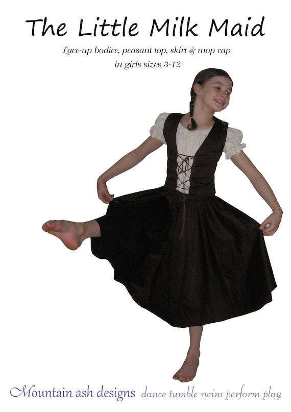 sc 1 st  Etsy & Milkmaid dance costume pattern The Little Milkmaid costume pdf