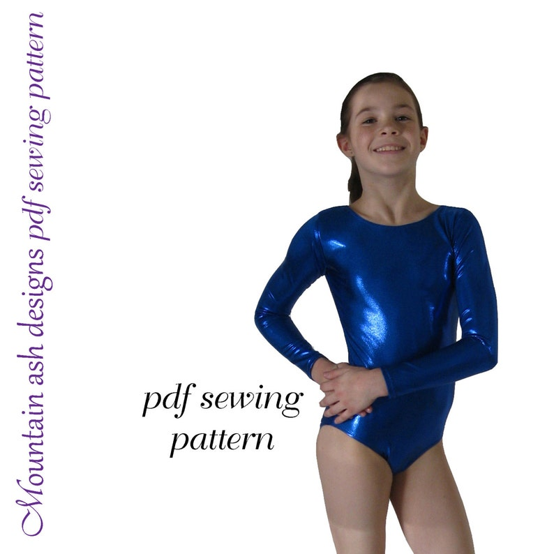 f4dbb645d Leotards 2 pdf sewing pattern gymnastics gym dance jazz ballet