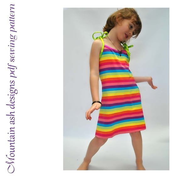 Beach Dress Stretch dress pattern Zoe pdf sewing pattern knit | Etsy