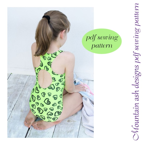Laura Swimsuit Sewing Pattern Racer Back Swimsuit And