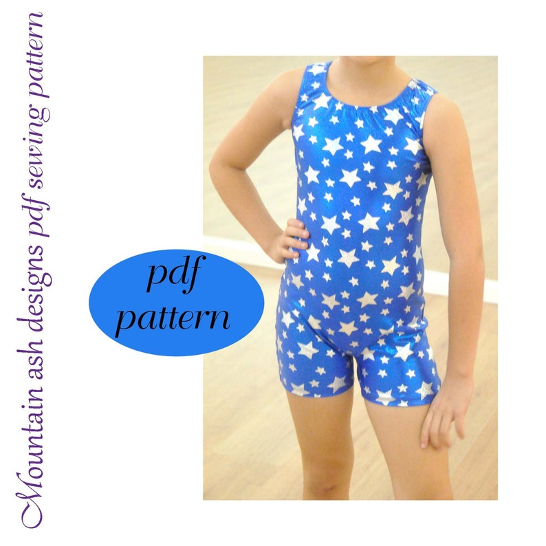 Vintage Bathing Suits | Retro Swimwear | Vintage Swimsuits 2-14 Unitard Pattern Matilda pdf sewing pattern in girls sizes 2-14 Vintage Swimsuit  $6.21 AT vintagedancer.com