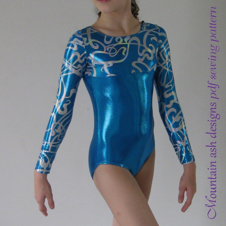 Long Sleeve Leotards Pattern Gymnastics Leotards 2 Sewing image 1