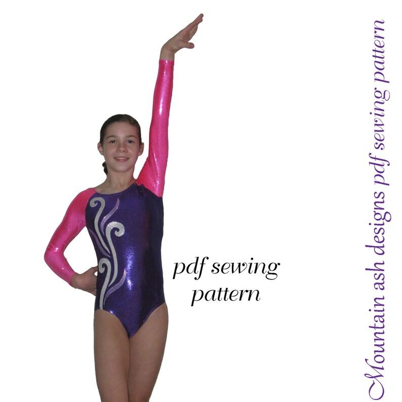 5bafb2a7ccd4 Leotards 4 pdf sewing pattern gymnastics long sleeve raglan