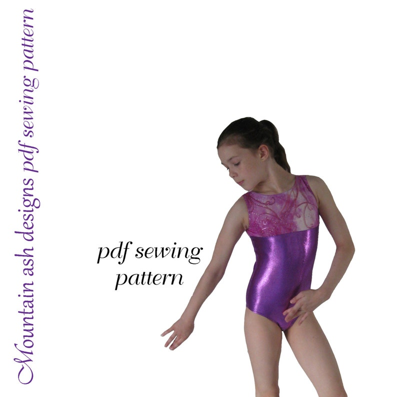 a5492ce03 Leotards 1 pdf sewing pattern gymnastics gym ballet dance