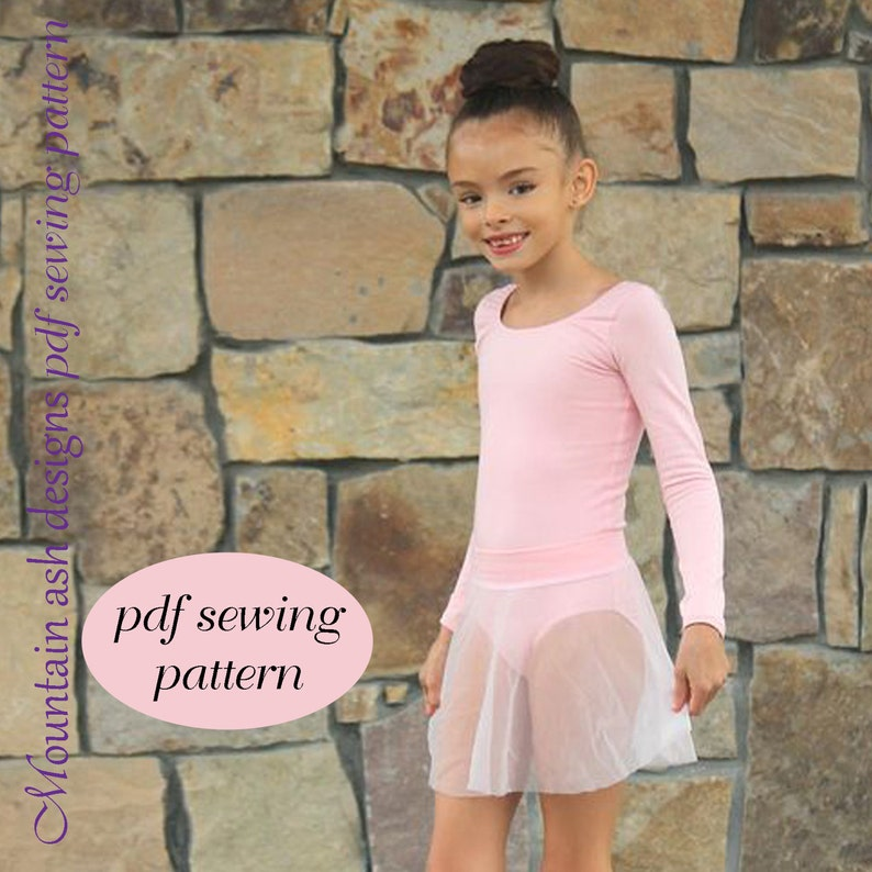 19c2c74f9 Ballet leotard ballet skirt pdf sewing pattern Ballet Basics 2