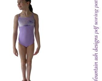 Olivia ballet leotard pattern gymnastics ballet dance dress costume pdf sewing pattern ebook tutorial girls sizes 2-14