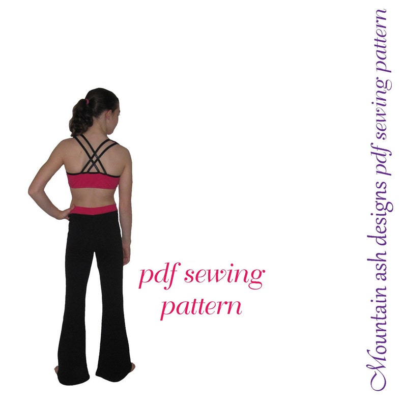 Flared Leggings and Jazz Pants pdf sewing pattern Leggings 2 pdf sewing  pattern