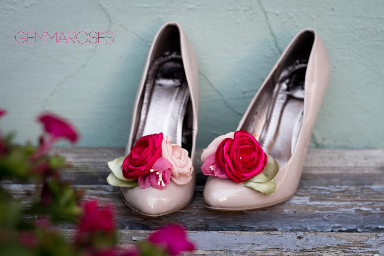 Flower  Shoe Clips - Floral Shoe Shoe Clips - Bouquet  Shoe Shoe Clips - Bridal  Shoe Clips - Wedding Shoe Clips- shoe decoration f3aa23