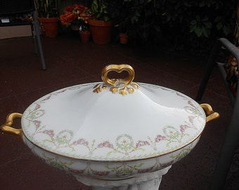 Limoges Vegetable Covered Dish