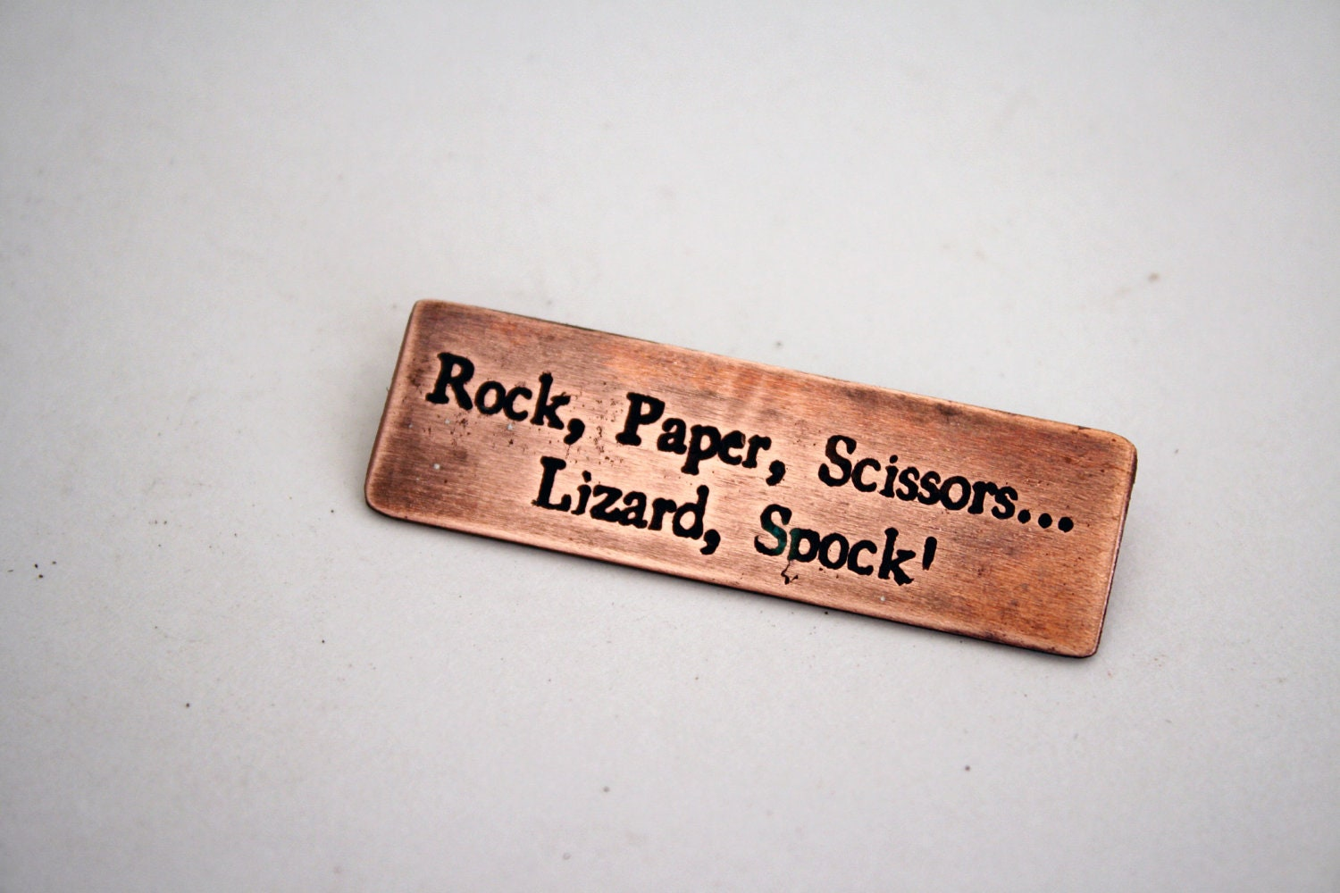 Rock Paper Scissors Lizard Spock Copper Pin Etsy Sheldon Cooper 50