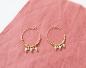 THETIS // small hoops gold filled and freshwater pearls