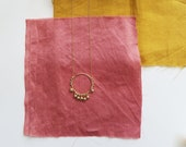 ADITI // Long dainty gold filled handbeaded necklace