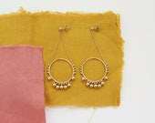 ADITI // gold filled handbeaded ethnic earrings