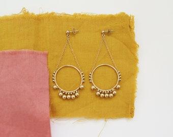 ADITI // gold filled handbeaded ethnic earrings