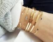 ADITI // Gold filled open hand beaded Bracelet
