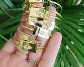 PIRENE // Rhombus bangle bracelet