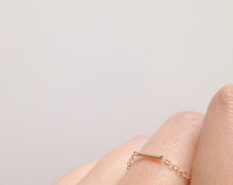 Thin Minimalist chain ring