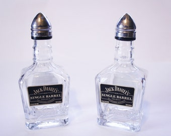 JD single barrel salt and pepper shakers